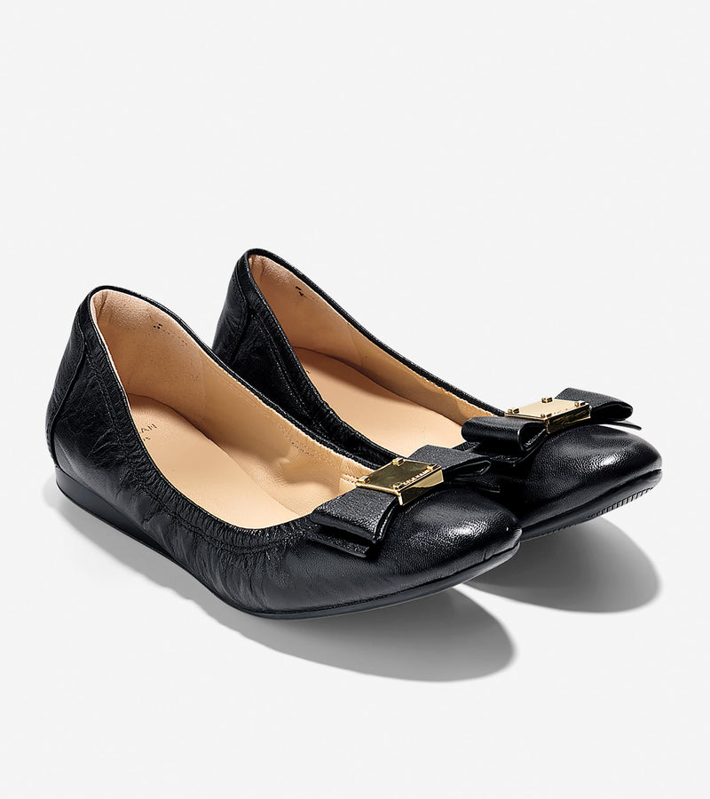 Cole Haan Black Leather Flats