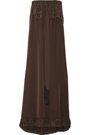 See by Chloe Strapless Silk-Satin Maxi Dress