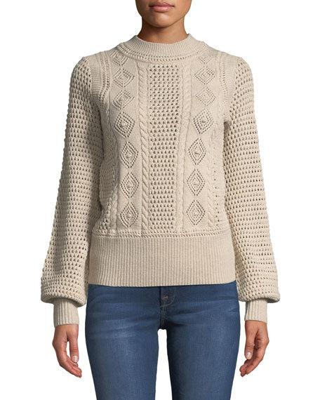 See by Chloe Pointelle-Knit Wool Sweater