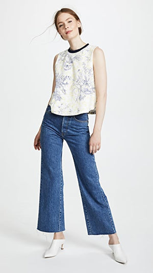 Cinq a Sept 'Ditsy' Floral-Print Cotton Jersey Top