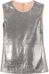 Diane von Furstenberg Sequin Party Top