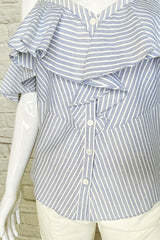 Veronica Beard Striped 'Grant' Off-The-Shoulder Top