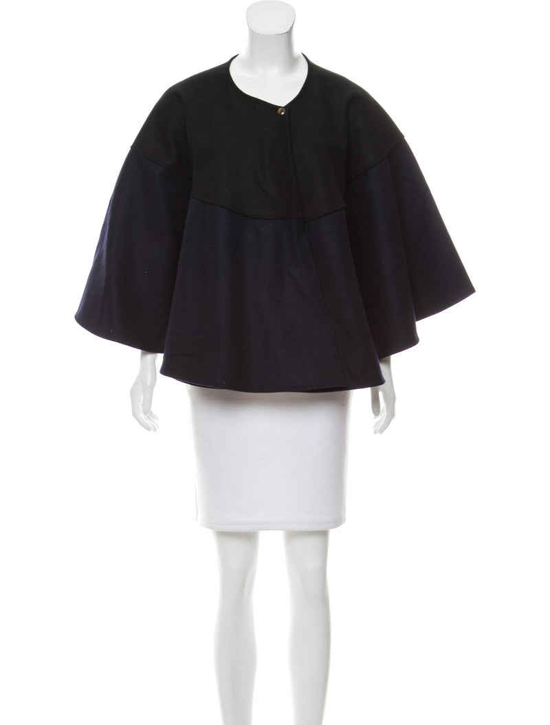 Donni Charm Colorblock Wool Cape