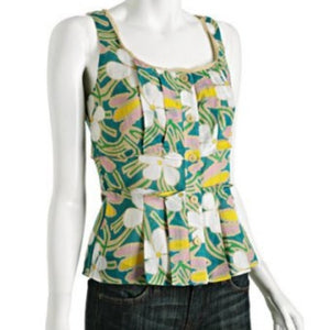 Diane von Furstenburg Silk-Blend Floral Top
