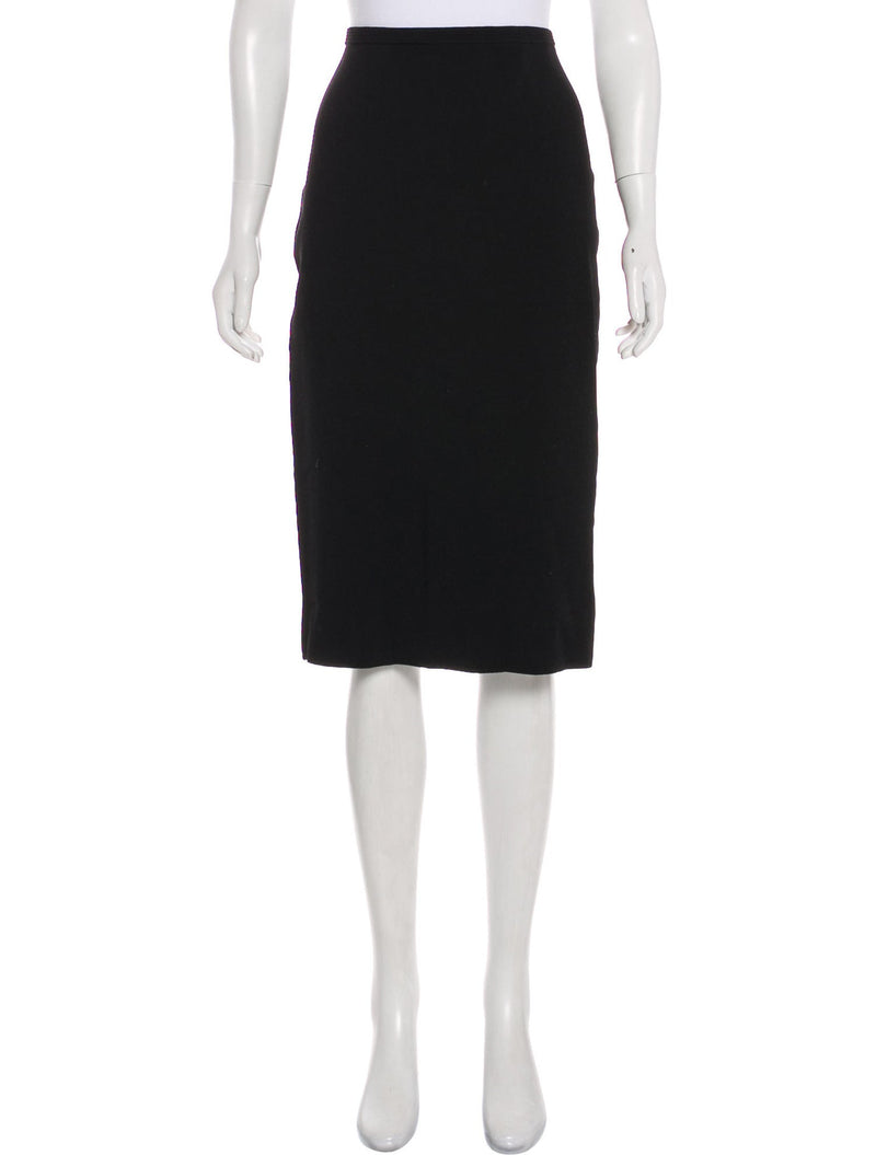 Diane von Furstenberg Classic Black Knit Pencil Skirt