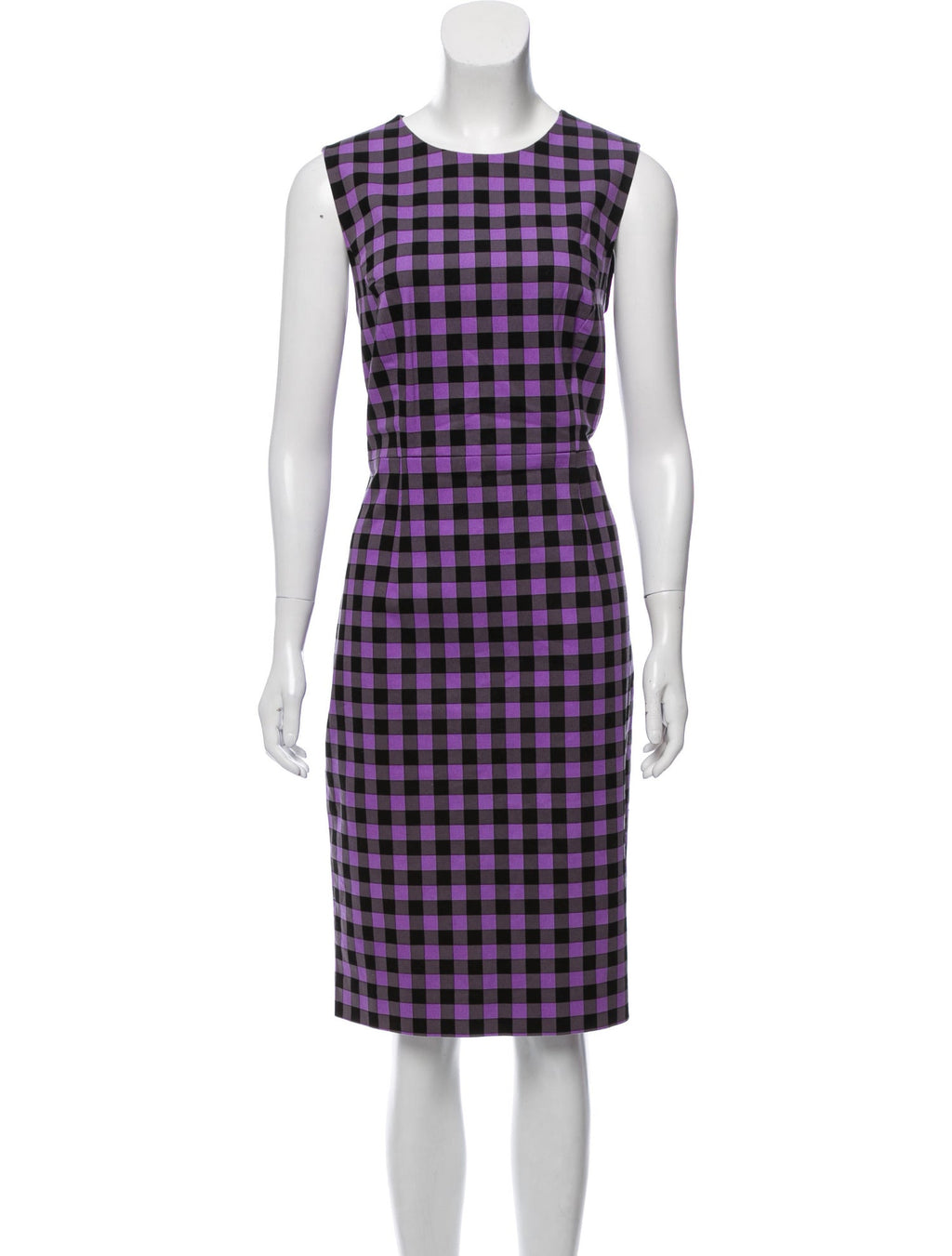 Diane von Furstenberg Purple Plaid Sheath Dress