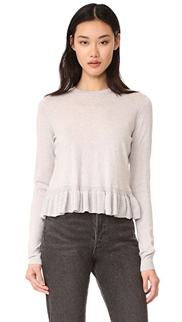 Elizabeth and James Lightweight Peplum Sweater