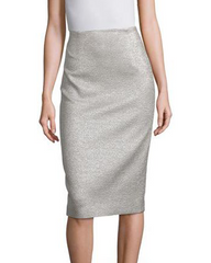 Escada 'Ravex' Metallic Pencil Skirt