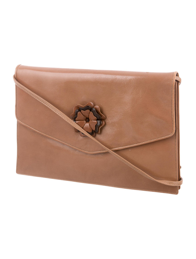 Fendi Vintage Whiskey Leather Clutch