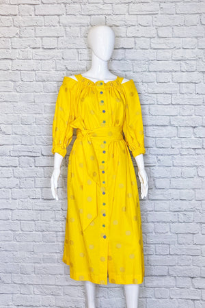 Carolina Herrera Marigold Midi Dress
