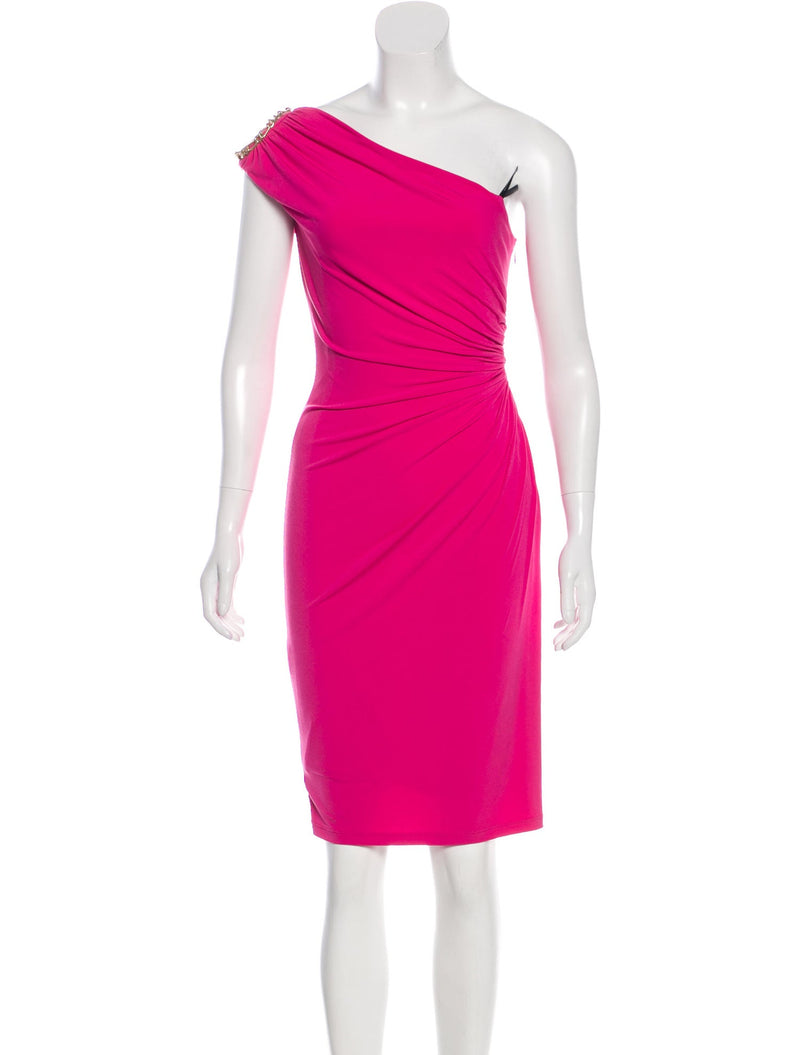 David Meister Asymmetrical Dress