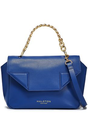 Halston Heritage Leather Logo Versatile Crossbody Bag