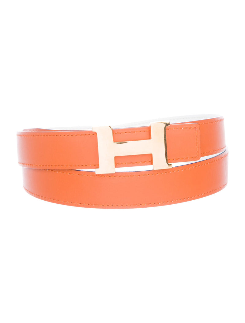 Hermes Reversible Mini 'H' Logo Belt (24mm)