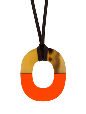 Hermes Buffalo Horn Isthme Pendant Necklace