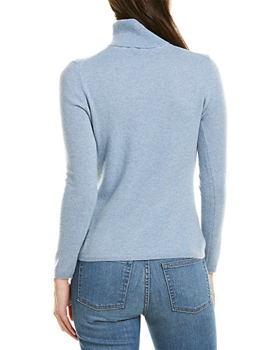 inCashmere Blue Classic Turtleneck