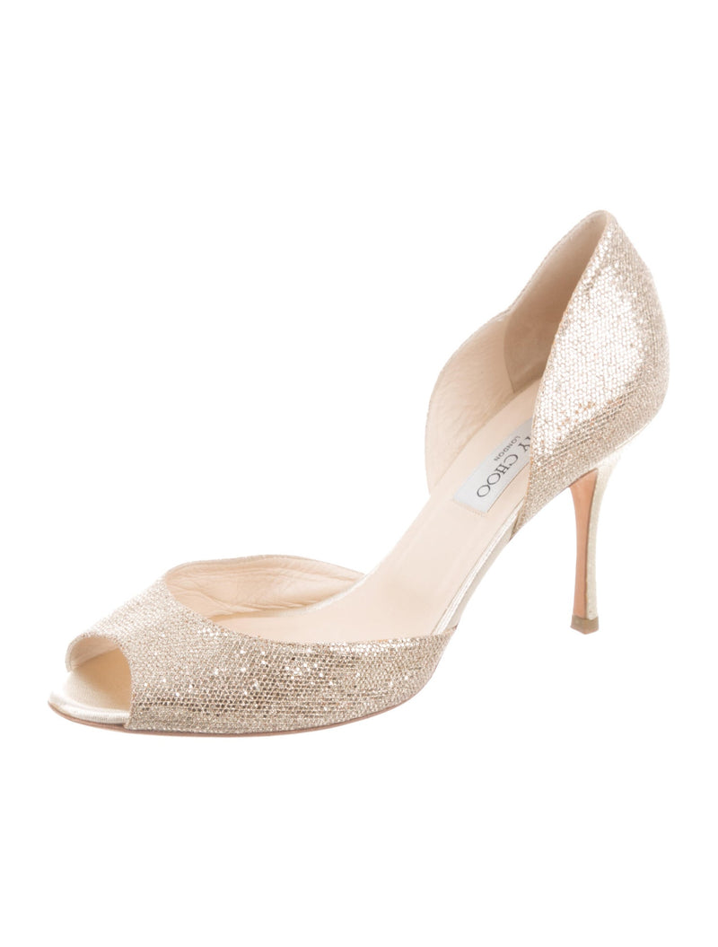 Jimmy Choo Glitter 'd'Orsay' Pumps