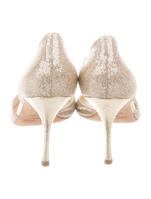 Jimmy Choo Gold Glitter 'd'Orsay' Pumps