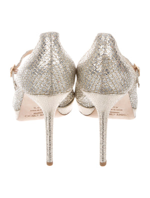 Jimmy Choo Glitter Mary Jane Pumps