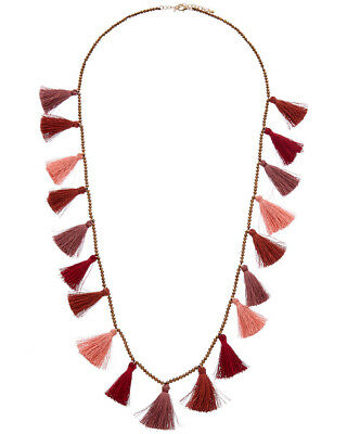 Kenneth Jay Lane Tassel Fringe Necklace