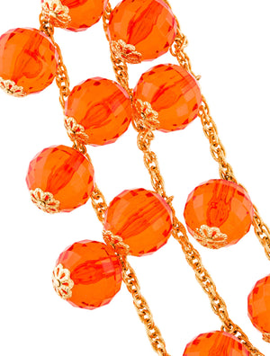 Kate Spade New York Orange Beaded Collar Necklace