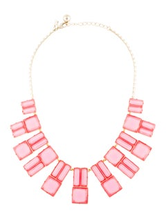 Kate Spade New York Pink Resin Collar Necklace