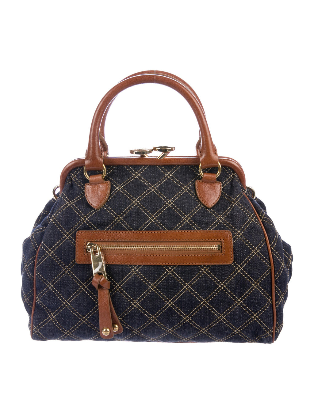 Marc Jacobs Vintage Denim-Leather Stam Bag