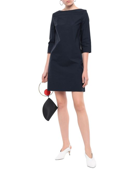 Marni Storm Blue Cotton-Poplin Shift Dress