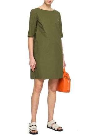 Marni Green Leaf Cotton-Poplin Shift Dress
