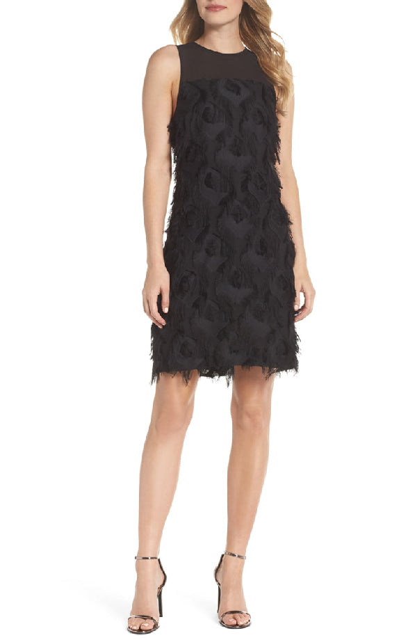 MICHAEL Michael Kors Jacquard Peacock Feather Dress