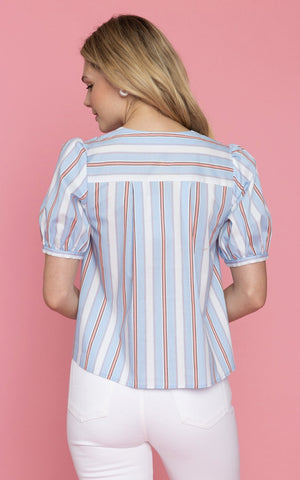 CROSBY by Mollie Burch Poplin 'Mason' Top