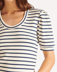 Veronica Beard Striped Scoop-Neck 'Fleta' Top