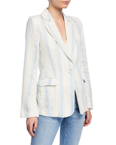 FRAME Linen Striped Blazer