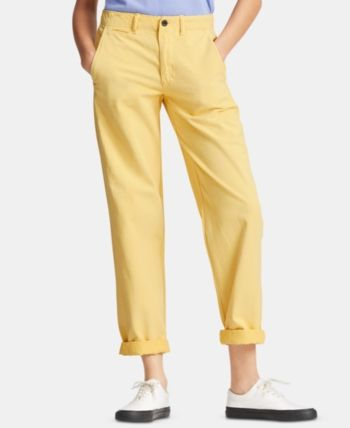 Polo Ralph Lauren Yellow Stretch Straight Fit Trousers