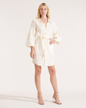 Veronica Beard Ivory Linen 'Samy' Shirt Dress
