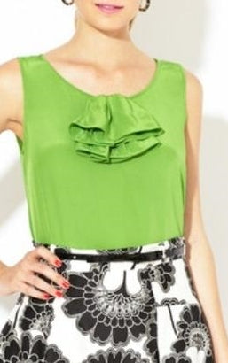 Kate Spade New York 'Ciara' Ruffle Silk Top