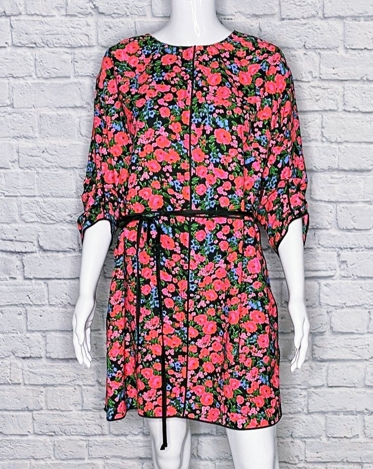 Marc Jacobs Floral 3/4 Sleeve Mini Dress