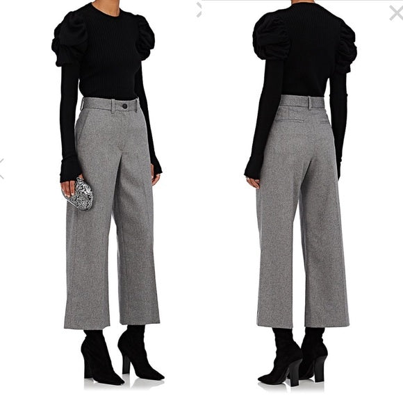 Rag & Bone High-Rise Wide-Leg Crane Pants
