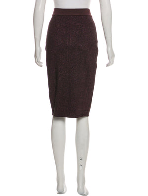 Rag & Bone Metallic Plum Pencil Skirt