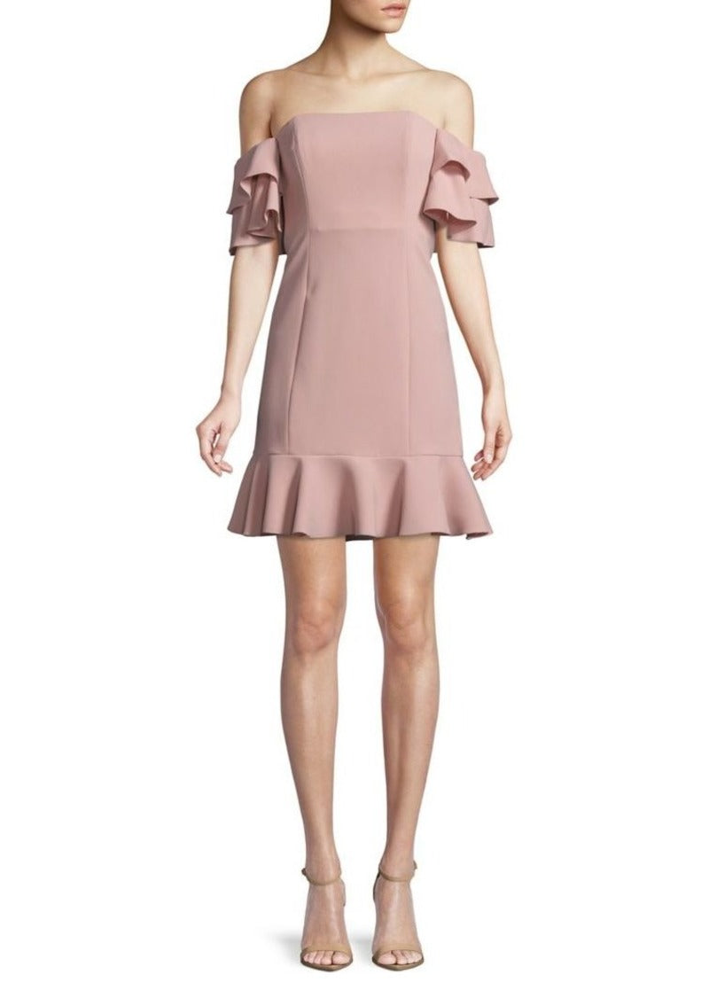 Rachel Zoe 'Tracy' Off-the-Shoulder Ruffle Dress