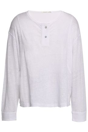 Rag & Bone Linen Long Sleeve Top