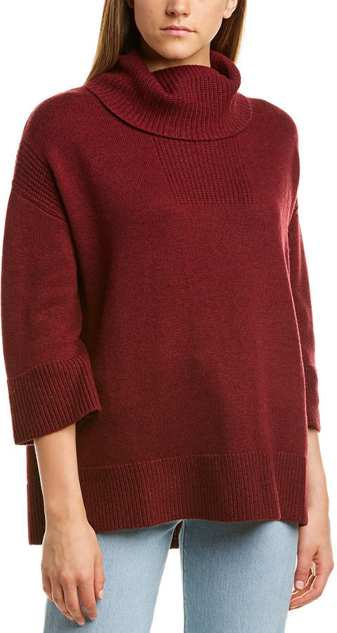 Hannah Rose Wool/Cashmere Blend Turtleneck Sweater