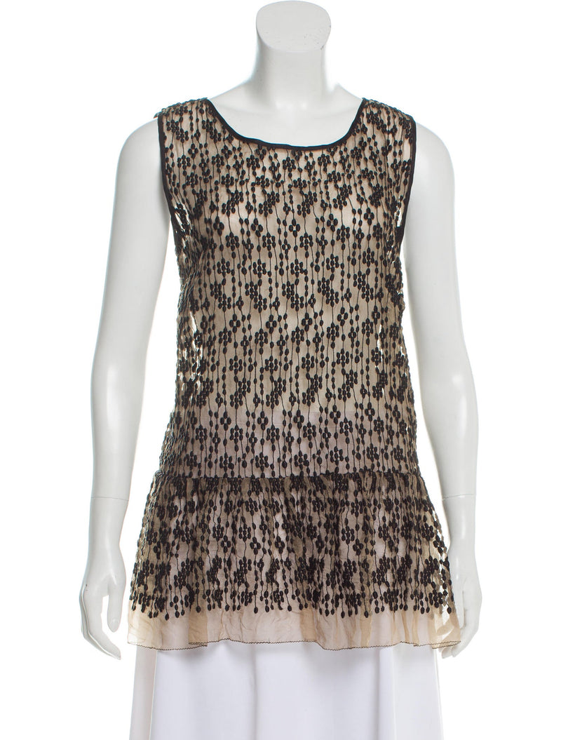 Red Valentino Silk Sleeveless Top