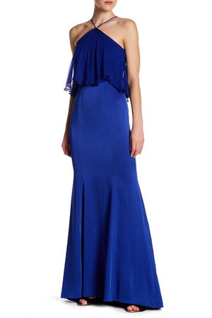 Theia Silk Overlay Gown