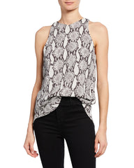 A.L.C. 'Anise' Crepe Snakeskin Top