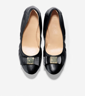 Cole Haan Black Leather Logo Flats