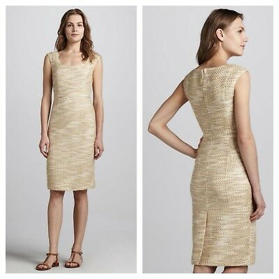 Tory Burch 'Emma' Metallic Tweed Dress