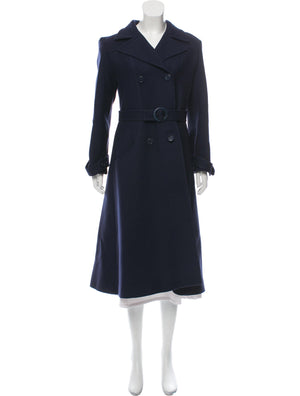 Valentino Vintage 1970s Wool Double-Breasted Coat