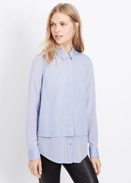 Vince Classic Poplin Button-Up