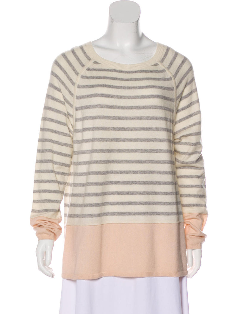 Vince Wool-Cashmere Blend Striped Sweater