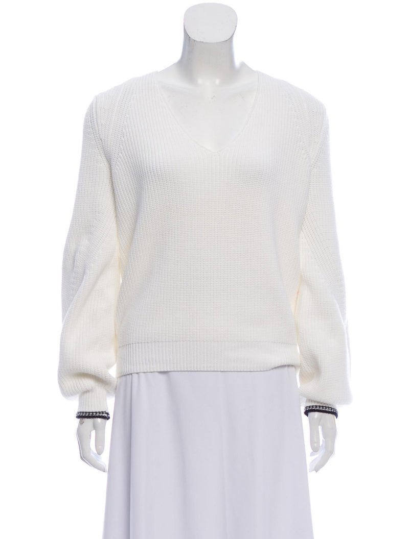 Vince V-Neck White Sweater